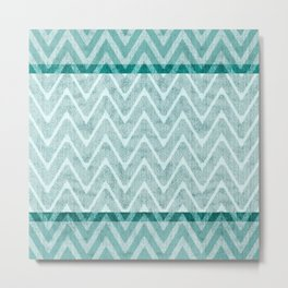 Teal Green and Nappy Imitation Terry Towel Metal Print