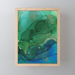 Ocean gold Framed Mini Art Print