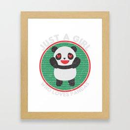 Mädchen Pandas T-Shirt Framed Art Print