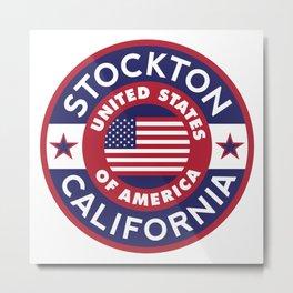 California, STOCKTON Metal Print