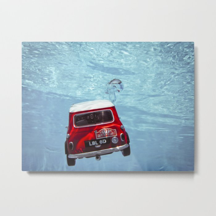 deep water swimming mini #1 Metal Print