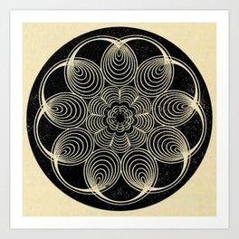 Antique Spiral Geometry Art Print