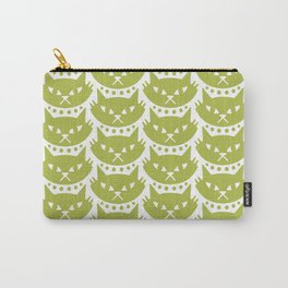 Mid Century Modern Cat Chartreuse Carry-All Pouch