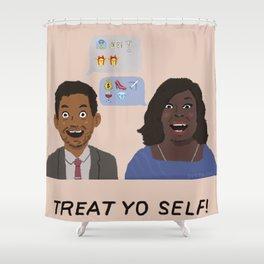 TREAT YO SELF- Emoji Edition Shower Curtain