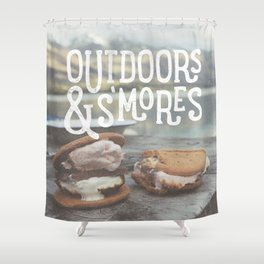 outdoors & S'mores Shower Curtain