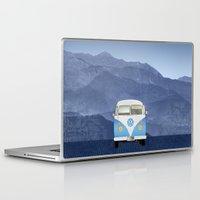 volkswagen Laptop & iPad Skins featuring Volkswagen Bus by Aquamarine Studio