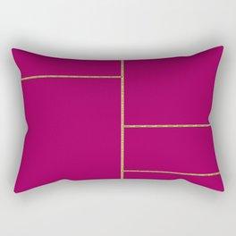 Gold and Berry Rectangular Pillow