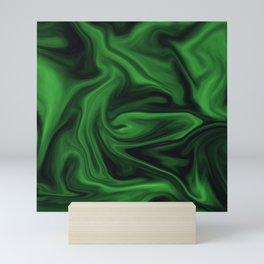 Black and green marble pattern Mini Art Print
