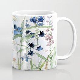 Wildflower in Garden Watercolor Flower Illustration Painting Coffee Mug