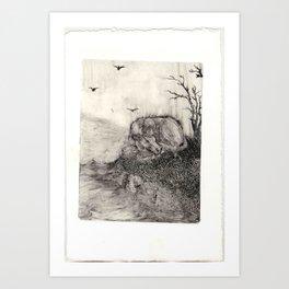 Io on Inachus' Banks Art Print