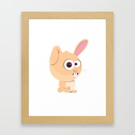 Cartoon Rabbit Framed Art Print