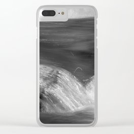 Never stop flowing.... Mountain river Clear iPhone Case