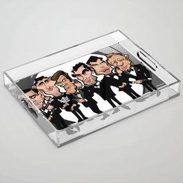 Faces of Bond Acrylic Tray