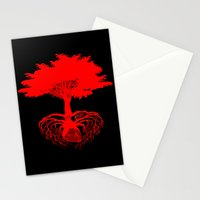 Heart Tree - Red Stationery Cards