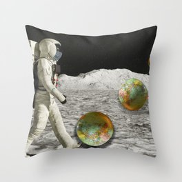 Moon Shot #collage Throw Pillow