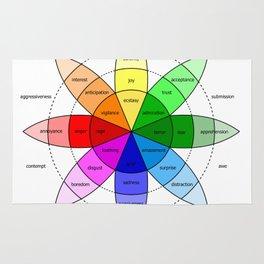 Love and Emotion Valentines Color Wheel Rug