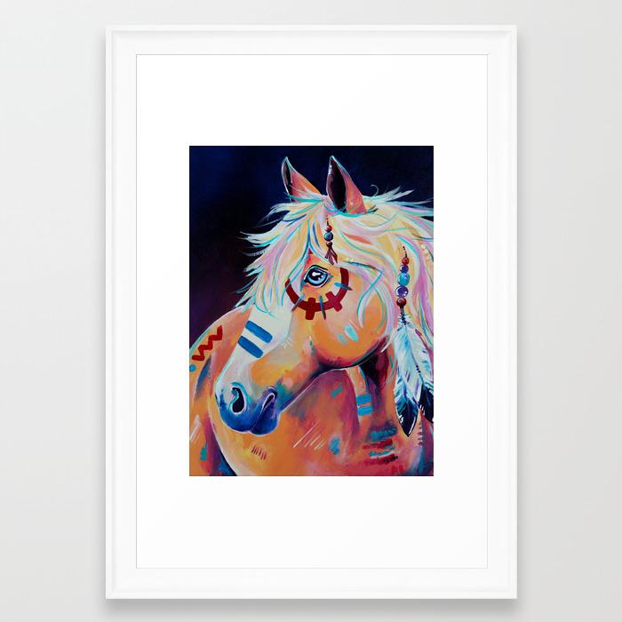 Apache Native American War Horse Framed Art Print By Evei Society6