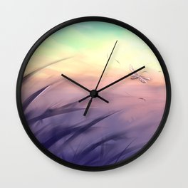 Goodmorning dragonfly Wall Clock
