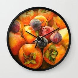 Round Persimmon Wall Clock