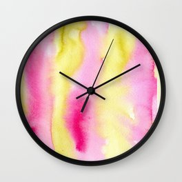 Watercolor vibrant vibes Wall Clock
