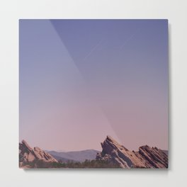Vazquez Rocks Moonlight Metal Print