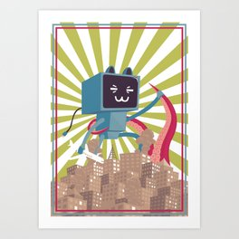 Go Go Mecha Kitty Art Print