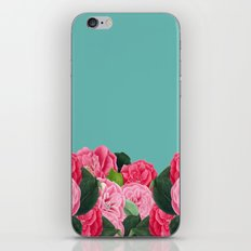 Floral & Turquoise iPhone Skin