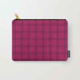 Black Grid on Dark Pink Carry-All Pouch