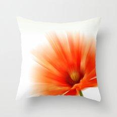 Vivid red Throw Pillow