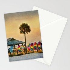Windbreaks on Pier 60 in Clearwater Stationery Cards