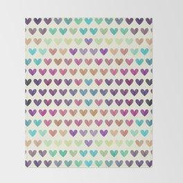 Colorful hearts III Throw Blanket