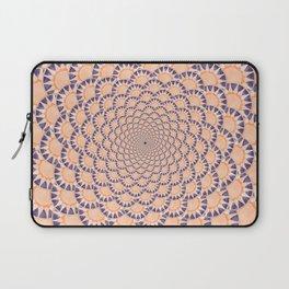 Peach and Blue Sundial Spiral Laptop Sleeve
