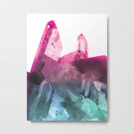 Rainbow Gems Metal Print