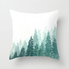 Evergreens Throw Pillow