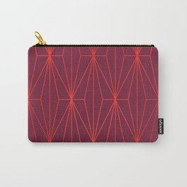 ELEGANT BEED RED TANGERINE  PATTERN Carry-All Pouch