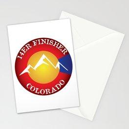 14er Finisher Colorado 14ers Quandary Peak Stationery Cards