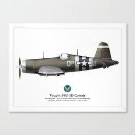 F4U-1D Corsair - Army Canvas Print
