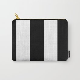 5th Avenue Stripe No. 2 in Black and White Onyx Carry-All Pouch