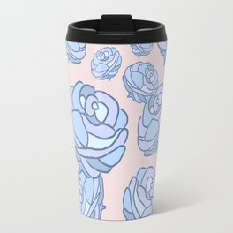 Blue Roses Forest Pink Sky Travel Mug