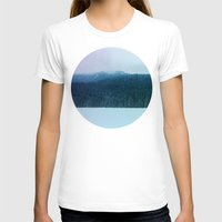 oregon T-shirts featuring Oregon Winter by Leah Flores
