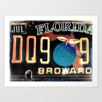 florida Art Prints featuring Florida by Vivian Fortunato