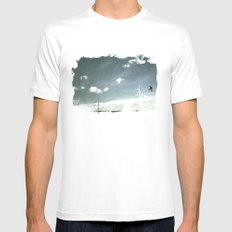 skyred White SMALL Mens Fitted Tee