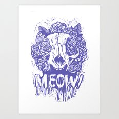 MEOW! [purple] Art Print