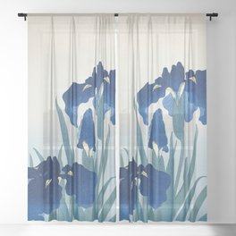 Ohara Koson - Iris flowers Sheer Curtain