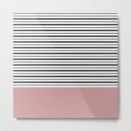 SAILOR STRIPES WITH PINK Metal Print