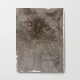 Tintype Pussycat Metal Print