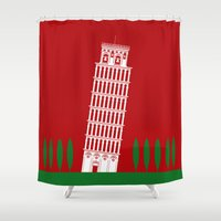 italy Shower Curtains featuring ITALY by Marcus Wild