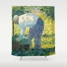"Georges Seurat ""The Gardener"" Shower Curtain"