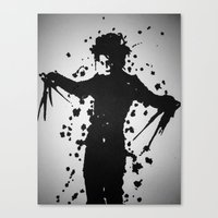 edward scissorhands Canvas Prints featuring Edward Scissorhands by Emma Porter