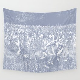Milkweed Field_Slate Blue Wall Tapestry